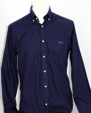 """Camisa azul de homem """"Gump"""" Peter Cafe Sport."""