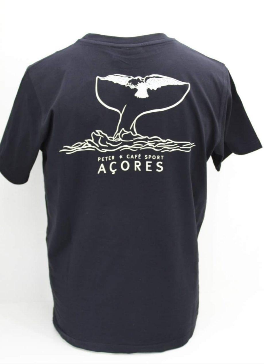 T-shirt preta cauda de cachalote Peter Cafe Sport