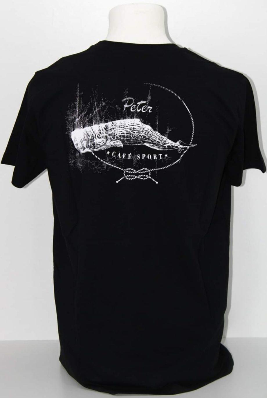 T-shirt de homem preta Peter Cafe Sport.