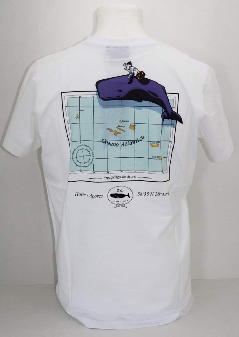 T-shirt branca de homem Peter Cafe Sport.